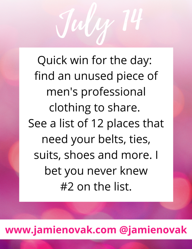 donate men's suits for charity