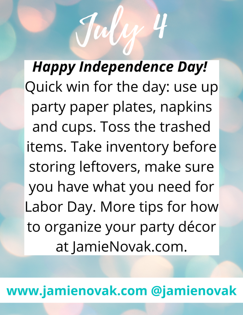 How to Organize Your Party Décor