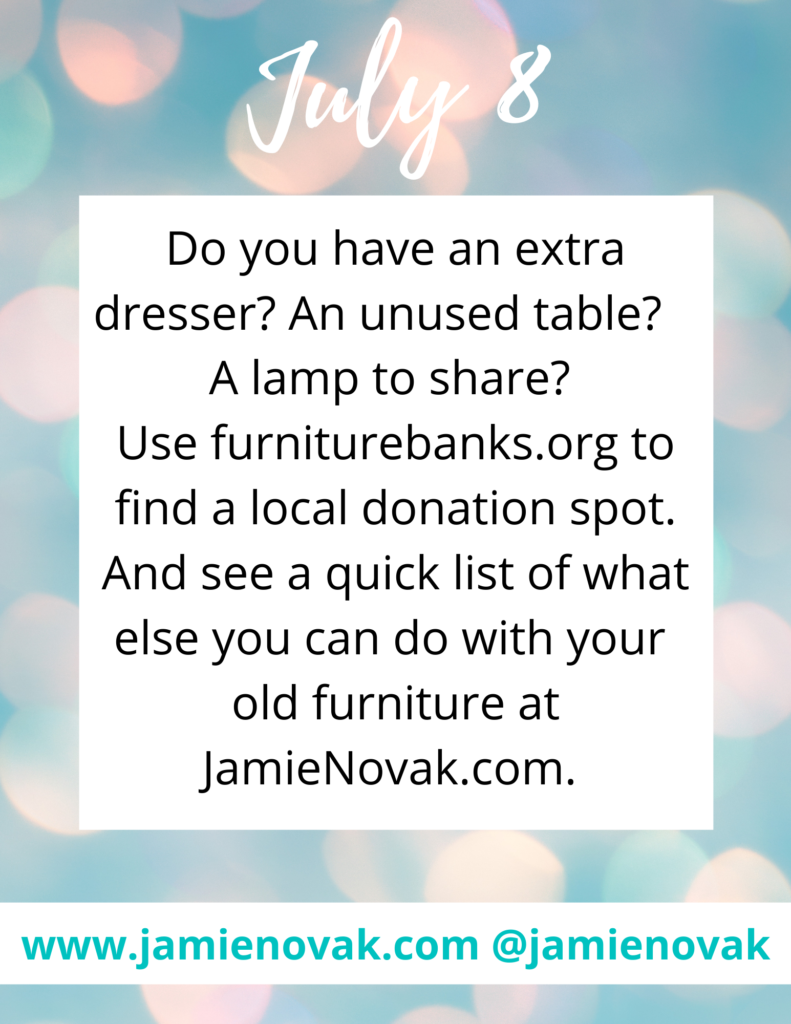What Can I Do With My Old Furniture