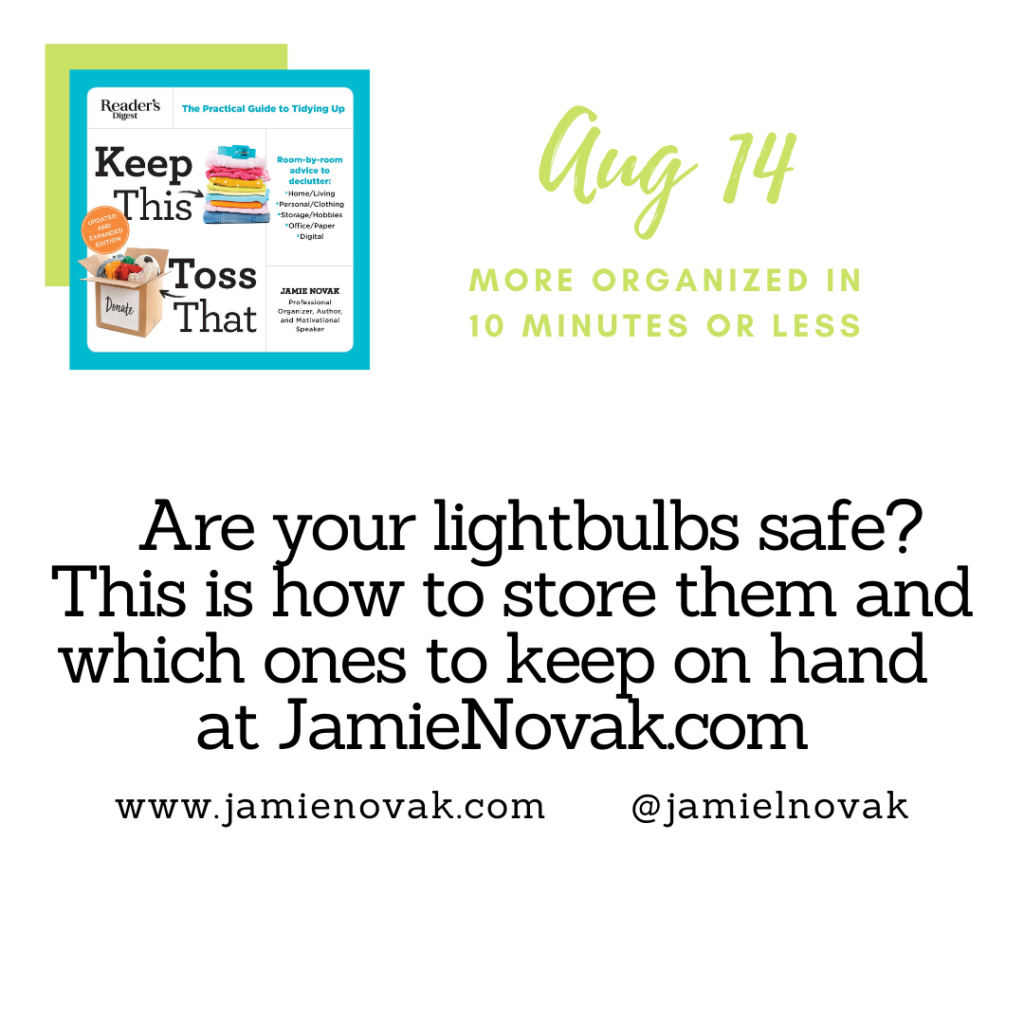 How to store lightbulbs